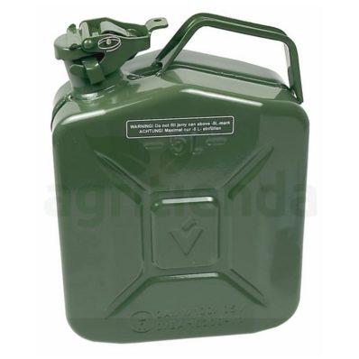 Bidón metálico para gasolina de 5 l.