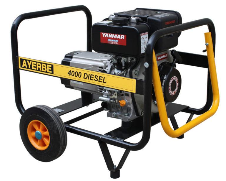 Generadores Diesel 3000 r.p.m. Motor YANMAR 4000 D